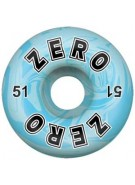 Zero Bold Blue Swirl  - 51mm - Blue/White - Skateboard Wheels