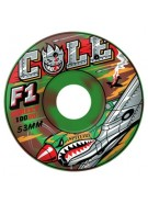 Spitfire Wheels F1 Cole Warhawk Camo Swirl - 53mm - Skateboard Wheels