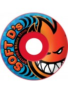 Spitfire Wheels Soft D's - 92 Duro - Rocket Red - 52mm - Skateboard Wheels