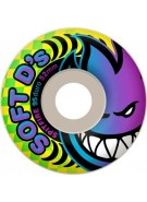 Spitfire Wheels Soft D's - 95 Duro - White - 52mm - Skateboard Wheels
