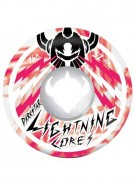 DarkStar Bolt Marble Lightning Core - White/Red - 54mm - Skateboard Wheels
