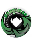 Darkstar Icon Dual Duro - Black/White/Green - 50mm - Skateboard Wheels