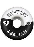 Mystery Swirl Urethane - 53mm - Black/White - Skateboard Wheel