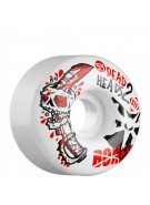 Bones Street Tech Formula Dead Head 2 - 54mm - White - Skateboard Wheels