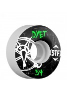 Bones Pro Team Dyet Oh Gee Street Tech Formula STF - White - 54mm - Skateboard Wheels