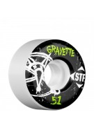 Bones Pro Team Gravette Oh Gee Street Tech Formula STF - White - 51mm - Skateboard Wheels