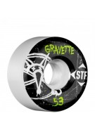 Bones Pro Team Gravette Oh Gee Street Tech Formula STF - White - 53mm - Skateboard Wheels