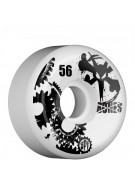 Bones Skate Park Formula SPF Gear Head - White - 56mm - Skateboard Wheels