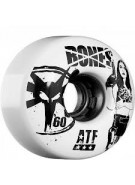 Bones All Terrain Smoking All Terrain Formula ATF - White - 60mm - Skateboard Wheels