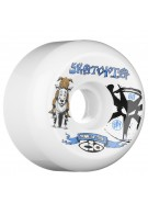 Bones STF Skatopia Style - 60mm - White - Skateboard Wheels
