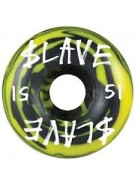 Slave Corporate Swirl - Black/Yellow - 51mm - Skateboard Wheels