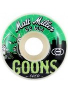 Gold Miller Goons 53mm - White/Green - Skateboard Wheels