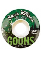 Gold Williams Goons 50mm - White/Green - Skateboard Wheels