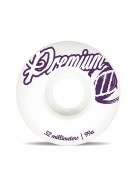 Premium Skateboards 52mm Scrawl - White - Skateboard Wheels