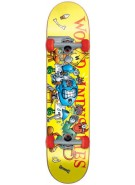 World Industries Slice N Dice - Yellow - 7.75 - Complete Skateboard