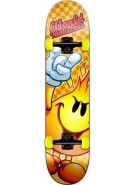 World Industries Rough Checker Flameboy - Orange - 7.6 - Complete Skateboard