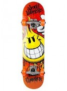 World Industries Raw Flameboy Mid - Orange - 7.37 - Complete Skateboard