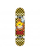 World Industries Checker Flameboy Mini - Black/Yellow - 7 - Complete Skateboard