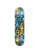 World Industries Character Stripe Mini - Blue/Yellow - 7 - Complete Skateboard