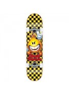 World Industries Checker Flameboy Micro - Yellow/Black - 6.5 - Complete Skateboard