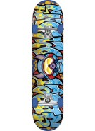Speed Demons Wildstyle Brigade - Blue/Yellow - 7.3 - Complete Youth Mid Skateboard