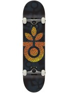 Habitat Bloom - Black - 7.875 - Complete Skateboard