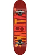 Habitat Artisan Apex Small - Red - 7.75 - Complete Skateboard