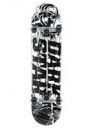 Darkstar Splatter - Black/White - 7.6 - Complete Skateboard