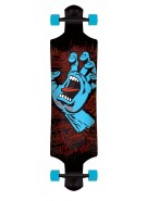 Santa Cruz Screaming Hand Drop Down Cruzer - 10in x 40in - Complete Skateboard