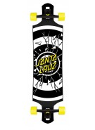 Santa Cruz Rob Dot Drop Thru Cruzer - Black/White/Yellow - 40 Inch - Complete Skateboard