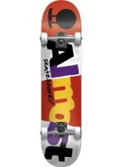 Almost Mash Up - Red/White - 8.0 - Complete Skateboard