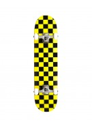 "Action Village 8"" Black/Yellow Checker - Complete Skateboard"