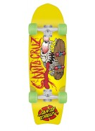 Santa Cruz Bone Slasher Cruzer - Yellow - 9.75 x 30.8 - Complete Skateboard