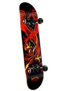 Powell Golden Dragon - Flying  Dragon Red - 7.3 - Complete Skateboard