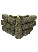 Empire Battle Tested Bandolier 6+1 Paintball Harness - Woodland Digi Camo