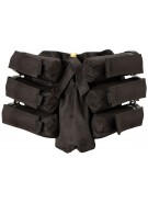 Empire Battle Tested Bandolier 6+1 Paintball Harness - Black
