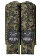 BT 2 Pod Pouch Paintball Harness - Woodland Digi Camo