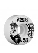 Bones Skate Park Formula Popo - 53mm - White - Skateboard Wheels
