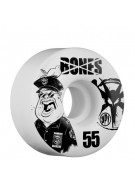 Bones Skate Park Formula Popo - 55mm - White - Skateboard Wheels