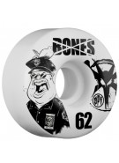 Bones Skate Park Formula Popo - 62mm - White - Skateboard Wheels