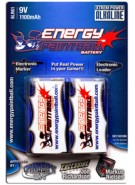 Energy Paintball 9V 1100mAh Alkaline Battery - 2 Pack