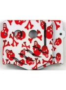 Stinger Paintball Designs Custom Soft Ears - Skulls 1 - Red/White