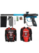 2012 Proto Reflex Rail Paintball Gun w/ Ironmen Jersey - Black/Teal Dust