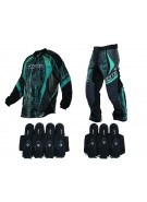 2013 Dye C13 Paintball Jersey & Pant Combo w/ Assault Harness - Dyetree Aqua