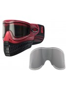 Empire E-Flex Paintball Mask w/ Free Chrome Lens - Red