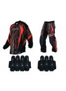 2013 Dye C13 Paintball Jersey & Pant Combo w/ Assault Harness - Dyetree Orange