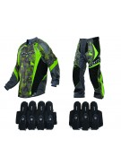 2013 Dye C13 Paintball Jersey & Pant Combo w/ Assault Harness - Atlas Lime