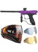 2011 Proto Rail PMR Paintball Gun w/ Dye I4 Mask & Dyetanium Lens - Dust Purple
