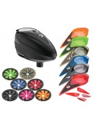 Dye Rotor Paintball Loader w/ Quick Feed & Color Kit - Black