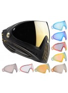 Dye Invision Goggle I4 Pro Mask w/ Additional Mirror Lens - Black/Gold